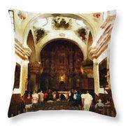 Mission San Xavier Del Bac Throw Pillow
