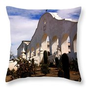 Mission San Xevier Del Bac Throw Pillow
