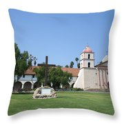 Mission Santa Barbara Throw Pillow
