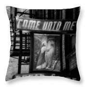 Mission Statement In Black And White Throw Pillow