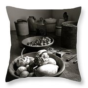 Mission Still In Black And White Throw Pillow