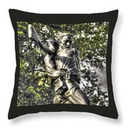 Mississippi At Gettysburg - The Rage Of Battle No. 2 Throw Pillow