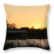 Mississippi Bayou 14 Throw Pillow