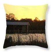 Mississippi Bayou 15 Throw Pillow