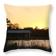 Mississippi Bayou 16 Throw Pillow