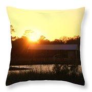 Mississippi Bayou 5 Throw Pillow