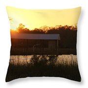 Mississippi Bayou 7 Throw Pillow
