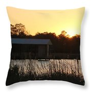 Mississippi Bayou 9 Throw Pillow