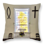 Mississippi Church Throw Pillow
