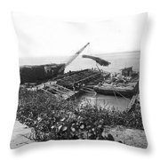 Mississippi Flood Control Throw Pillow
