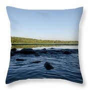 Mississippi Headwater And Lake Itasca Throw Pillow