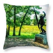 Mississippi Memorial Gettysburg Battleground Throw Pillow by Bob and Nadine Johnston