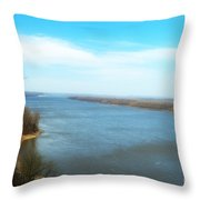 Mississippi Overlook Trail  Of Tears Throw Pillow