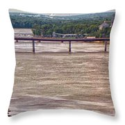 Mississippi River At I-72 Throw Pillow