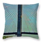 Mississippi River Bridge At Cape Girardeau Mo  Throw Pillow