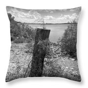 Mississippi River - Bw Throw Pillow