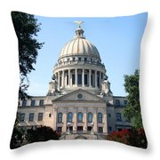 Mississippi State Capitol Downtown Jackson Throw Pillow