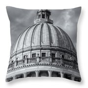 Mississippi State Capitol Viii Throw Pillow by Clarence Holmes