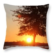 Mississippi Sunset 1 Throw Pillow