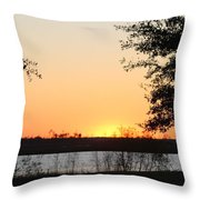 Mississippi Sunset 11 Throw Pillow