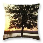 Mississippi Sunset 12 Throw Pillow