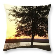 Mississippi Sunset 13 Throw Pillow