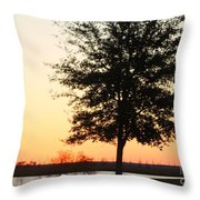 Mississippi Sunset 14 Throw Pillow