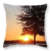 Mississippi Sunset 3 Throw Pillow