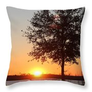 Mississippi Sunset 6 Throw Pillow