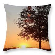 Mississippi Sunset 7 Throw Pillow