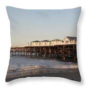Misson Beach  Throw Pillow