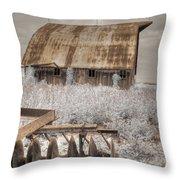 Missouri Barn Throw Pillow
