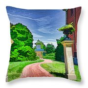 Missouri Botanical Garden Pathway Throw Pillow