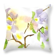 Missouri Dogwood In Watercolor Throw Pillow