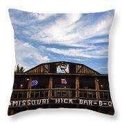 Missouri Hick Bbq Throw Pillow
