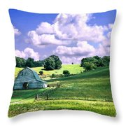 Missouri River Valley Throw Pillow