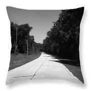 Missouri Route 66 2012 Bw Throw Pillow