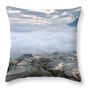 Mist And Cloud Throw Pillow
