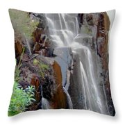 Mist From The Falls Throw Pillow