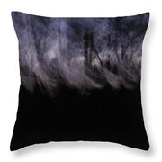 Mist Of The Forest Throw Pillow