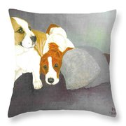Mista And Chester Throw Pillow