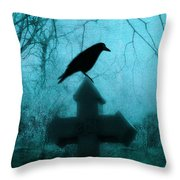 Misted Blue Throw Pillow