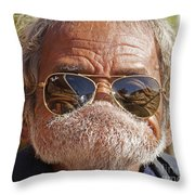 Mister Big Lip Throw Pillow