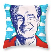 Mister Rogers Pop Art Throw Pillow