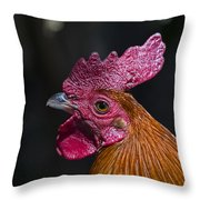 Mister Rooster Throw Pillow