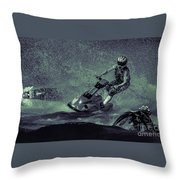 Scary Split-second At Sixty Mph Throw Pillow