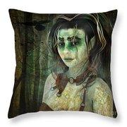 Mistress Of The Dark Woods Throw Pillow