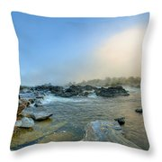 Mists Of Great Falls Throw Pillow