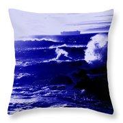 Misty Blue Throw Pillow