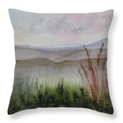 Misty Day In Nek Throw Pillow